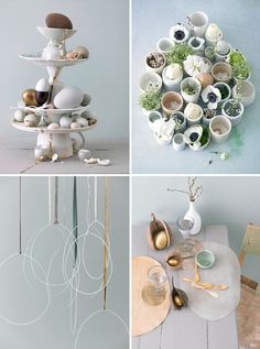 Saw this eggshell flower potting thing on the home page and forgot to click on it. Inspired me to look up other eggcellent egg ideas and I found a whole slew of them! Loving it!! @Jinjin Xu