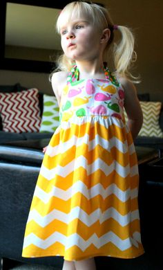 Chevron Whale Halter Dress by EllaJaneBoutique on Etsy, $32.00