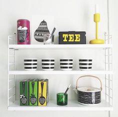 Marimekko on a shelf