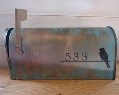 Hand painted treasures for your home. by SaratogaArtnCraft on Etsy Custom Mailboxes, Toy Chest, Storage Chest, Hand Painted, Bird, Handmade Gifts, Outdoor Decor, Etsy, Vintage