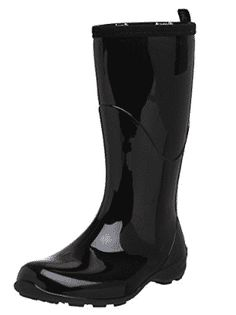 Kamik Women's Heidi Rain Boot Black/noir 8 M US for sale online Best Rain Boots, Black Rain Boots, Heeled Boots, Shoe Boots, Women's Boots, High Boots, Calf Boots, Teen Boots, Combat Boots