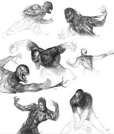 Incredible 'Art of Spider-Man Photos of Venom and Sandman . Venom Character, Character Art, Character Design, Venom Art, Spiderman 3, Spectacular Spider Man, Amazing Spider, Comic Villains, Animation