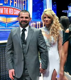 2015 WWE Hall of Fame red carpet couples: photos Jamie Noble, Wwe Couples, Wwe Tna, Randy Orton, High School Sweethearts, John Cena, Roman Reigns, Second Child, Superstar