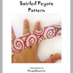 Swirled Peyote Pattern Bracelet  For Personal by dicopebisuteria