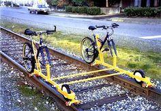 Tandem Railbike Design Patent Pending Railbike Tours, Inc.