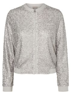 Party in a glitter bomber. Wear this from VERO MODA over a fancy dress.
