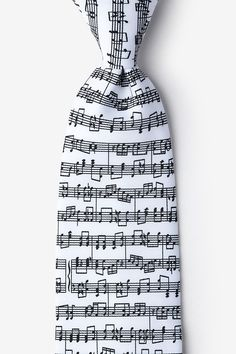 Shop for the Sheet Music White Tie, a White Microfiber Tie by Wild Ties. Grey Tuxedo, Novelty Ties, Tie Accessories, Any Music, Customized Gifts, Custom Gifts, Music Notes, Sheet Music, Mens Fashion