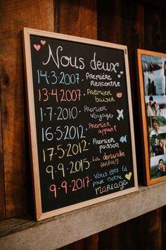Les dates importantes de votre histoire ! #mariage #décoration