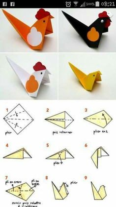 40 Cute DIY Paper Crafts for Kids to Preserve as Keepsakes 2019 Step by step easy paper origami bird kids craft idea The post 40 Cute DIY Paper Crafts for Kids to Preserve as Keepsakes 2019 appeared first on Paper ideas. Origami Star Box, Origami And Kirigami, Origami Ball, Origami Fish, Origami Folding, Origami Paper, Diy Paper, Paper Folding, Arts And Crafts