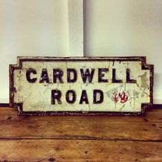 English Vintage Cast Iron Street Signs (1 of 6) | coco karoo