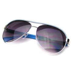 Beautiful chain-link top frame trendy retro aviator sunglasses.Cute and stylish fashion colorful womans sunglasses. This item features metal hinges; English style nose piece and a full polycarbonate 100% UV high impact-resistant protected lenses. Make a Statement in these shades!   Lens Width: 57mm Nose Bridge: 15mm Lens Height: 50mm Total Width: 152mm
