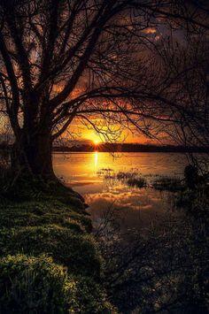 "wowtastic-nature: "" 💙 lac de beaulieu on by Antoine Daniel, Nantes… Amazing Sunsets, Amazing Nature, Beautiful World, Beautiful Images, Beautiful Things, Beautiful Nature Scenes, Landscape Photography, Nature Photography, Scenic Photography"