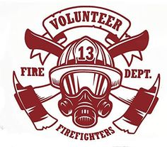 Custom Volunteer Firefighter Vinyl Decal - Fireman Bumper Sticker, for Laptops or Car Windows - Pick Size and Color Vinyl Transfer Firefighter Cross, Firefighter Decals, Volunteer Firefighter, Firefighters Wife, Police Stickers, Bumper Stickers, Car Decals, Vinyl Decals, Volunteer Gifts