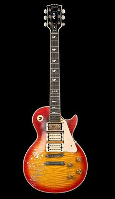 Ace Frehley's smoked out Gibson Les Paul Signature Model Music Guitar, Cool Guitar, Playing Guitar, Guitar Solo, Guitar Art, Art Music, Gibson Les Paul, Hard Rock, Famous Guitars