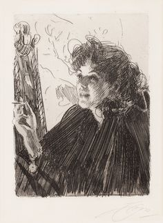 "Anders Zorn 1860-1920  ""Girl with a Cigarette II""."