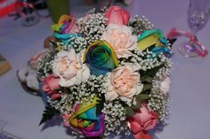 Rainbow Rose Bouquet