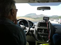 Dave Sayer of the PCH Prize Patrol driving through beautiful Colorado in May 2012