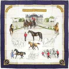HERMES SCARF Silk Les Haras Nationaux by Hubert de by EXANYC, $279.95