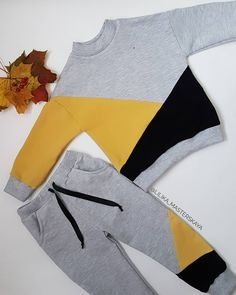 Geometric suit, sweatshirt and pants. about - Kinder Ideen - - Geometric suit, sweatshirt and pants. about - Kinder Ideen Sewing Kids Clothes, Sewing For Kids, Baby Sewing, Baby Boy Fashion, Kids Fashion, Baby Boy Outfits, Kids Outfits, Diy Vetement, Kids Wear