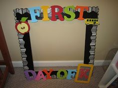 15 Best Photo Frame Images First Day School Back To School First