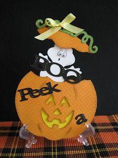 Cricut Halloween Card. Paper Doll Dress Up Cartridge. *