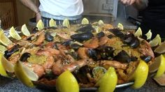 """How to make Paella with TV Chef Julien Picamil from """"Saveurs"""" Dartmouth UK."""