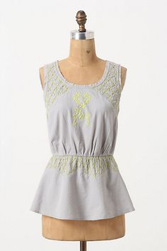 Sun-Stitched Shirt #anthropologie. Bought this, along with coral skinny jeans. Amazing. <3