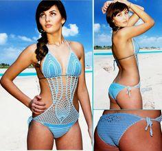 Crochet bikini Crochet monokini Swimsuit Bathing by TTAccessories, $39.99