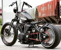 Star Motorcycles Announces Winners in the Bolt Custom Build-Off. Second Place is Sam Nehme of Broward Motorsports with his take on a springer custom bobber. Bobber Bikes, Bobber Motorcycle, Cool Motorcycles, Custom Bobber, Custom Harleys, Custom Bikes, Harley Bobber, Bobber Chopper, Ducati