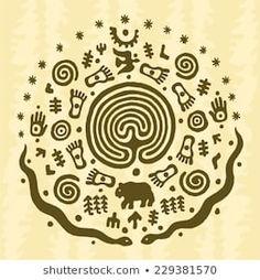 Shaman Symbols, Aztec Art, Animal Silhouette, Symbolic Tattoos, Aboriginal Art, Portfolio, Pyrography, Ancient Art, Book Illustration