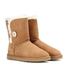 UGG Australia Bailey Button Boots ($175) ❤ liked on Polyvore featuring shoes, boots, uggs, brown, ugg australia, ugg® australia shoes, brown boots, button shoes and button boots