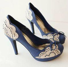 Blue Bridal/Bridesmaid Mixed Color Platform/Pumps Wedding Shoes