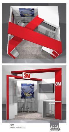 exposition stand design in corner - Buscar con Google