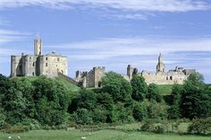 Warkworth Castle, Northumberland. The impressive fortress was once owned by Harry Hotspur, Earl of Northumberland.