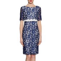 898f4a7fd7e1 Buy Gina Bacconi Cleopatra Scallop Flower Lace Dress, Navy from our Women's  Dresses range at John Lewis & Partners.