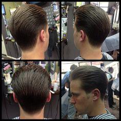 Clean cut by @barbertownworcs #uppercutdeluxe #barber #barbershop #pomade www.pomade.com Medium Hair Cuts, Medium Hair Styles, Haircut Medium, Long Hair Styles, Cool Haircuts, Haircuts For Men, Slicked Back Hair, Classic Hairstyles, Pompadour