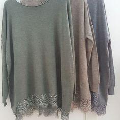 #maglia #maxy #verde #beige #grigio # greca #pizzo #valeria #abbigliamento
