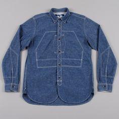 Junya Watanabe Man Constructed Denim Work Shirt - Blue