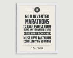 70.3 Half Ironman Triathlon Retro Print  by StephLawsonDesign