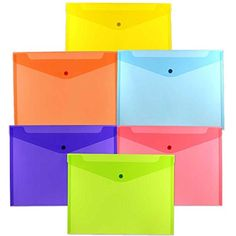 Jam Paper Booklet Plastic Envelopes Letter Size   X  Blue