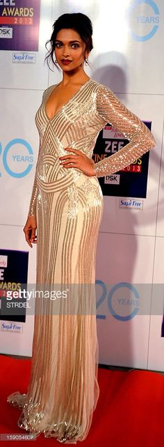 Indian Bollywood actress Deepika Padukone attends the Zee Cine Awards 2013 ceremony in Mumbai on January 6, 2013.