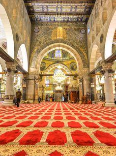 Inside Al Aqsa Mosque. Jerusalem