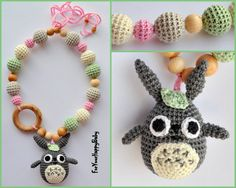 Totoro/ Teething necklace / Breastfeeding by ForYourHappyBaby