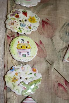 sunday buttons by Julie Whitmore Pottery, via Flickr