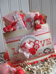 vintage valentine RECIPE FOR LOVE pocket of by cherrysjubileecards, $14.00