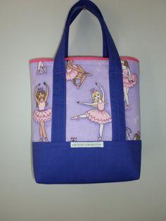 Balletto tote bag. Ragazze spiaggia borsa. di thekidscollective