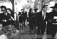 Funeral Fashion Editorials - YSL Tribute by Vogue Italia (GALLERY)