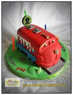 Chuggington Cake for Eshan by Dapur Solia, via Flickr B's 2ND BIRTHDAY INSPIRATION