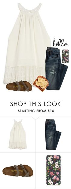 """h e l l o"" by ab1525 ❤ liked on Polyvore featuring OTTE, Canvas by Lands' End, Birkenstock and Caso"