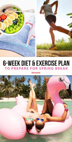 This 6-week diet and exercise plan to prepare for spring will not only help you look your best, but feel incredible, too! Weight Loss Workout Plan, Weight Loss Challenge, Weight Loss Meal Plan, Best Weight Loss, Healthy Weight Loss, Fat Workout, Workout Schedule, Workout Tips, Workout Challenge